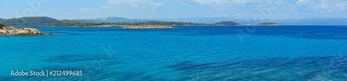 Aegean sea coast panorama (Chalkidiki, Greece). Canvas Print