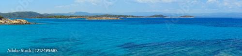 Photo Aegean sea coast panorama (Chalkidiki, Greece).