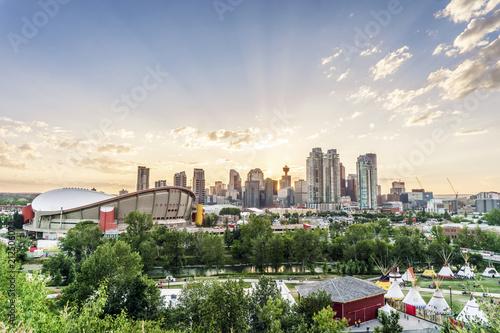 Beautiful panorama of Calgary, Alberta, Canada