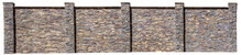 Sample Fence Of Natural Stone On White Background