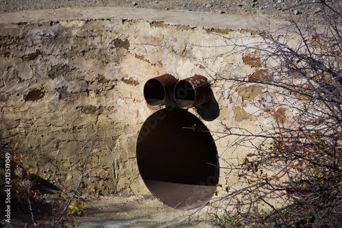 Tablou Canvas Funny drainpipe in Crimea