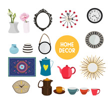 Home Decor Vector Elements Set...
