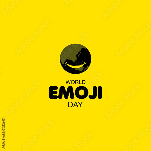 World Emoji Day Vector Template Design Illustration Poster