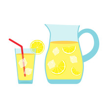 Ice Lemonade. Vector. Isolated.