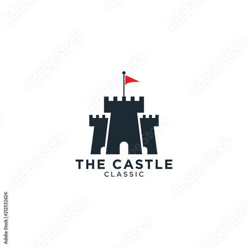 Vászonkép Castle logo design template
