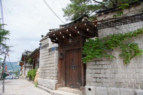 Tuinposter Seoel 韓国の三清洞の風景
