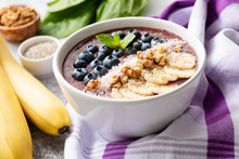 Acai Smoothie Bowl With Superf...