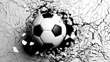 Soccer Ball Breaking Forcibly ...