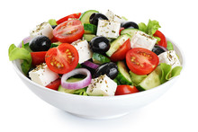 Salad With Cheese And Fresh Ve...