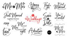Wedding Lettering Set