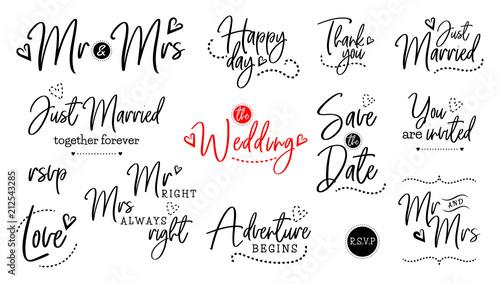 Fotografie, Obraz  wedding lettering set