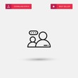Outline Conversation Icon isolated on grey background. Modern simple flat symbol for web site design, logo, app, UI. Editable stroke. Vector illustration. Eps10