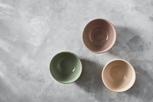 Three Colorful Porcelain Bowls...