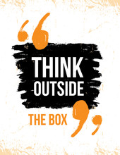 Think Outside The Box Typograp...