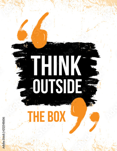 Pinturas sobre lienzo  Think outside the box typography poster