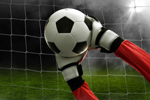 Soccer Goalkeeper Catches The ...