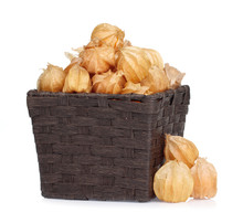 Cape Gooseberry In Basket Isol...