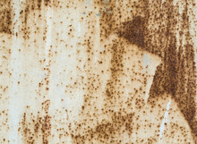 Texture Old Metal Surface Painted Beige Paint With Rust