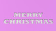 canvas print picture - White Merry Christmas words cut in purple paper