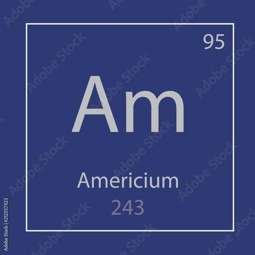 Photo Americium Am chemical element icon- vector illustration