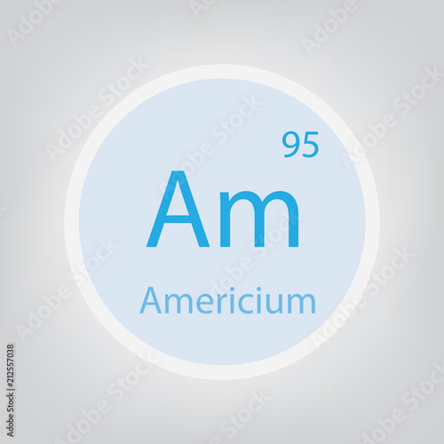 Americium Am chemical element icon- vector illustration Wallpaper Mural