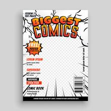 Comic Cover Template Design La...