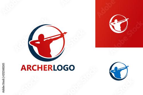Archer Logo Template Design Vector, Emblem, Design Concept, Creative Symbol, Ico Wallpaper Mural