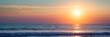 canvas print picture - Atlantic ocean sunset, Lacanau France