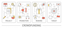 Set Of Crowdfunding Vertical Banners
