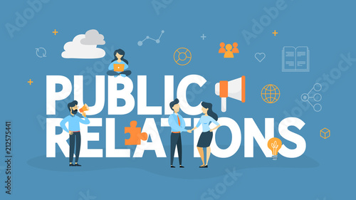 Valokuva  Public relations concept illustration