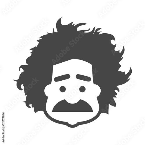 Einstein icon, Professor, scientist logo Canvas Print
