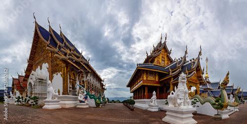 Foto op Aluminium Bedehuis temple wat ban-den Sri Muang Gan , chiangmai province Thailand