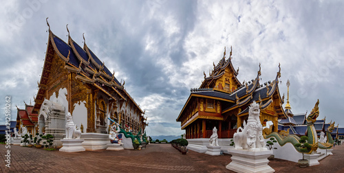 Deurstickers Bedehuis temple wat ban-den Sri Muang Gan , chiangmai province Thailand