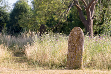 Picturesque English Countryside Graveyard. Ancient Rural Churchyard Cemetery Burial Site.