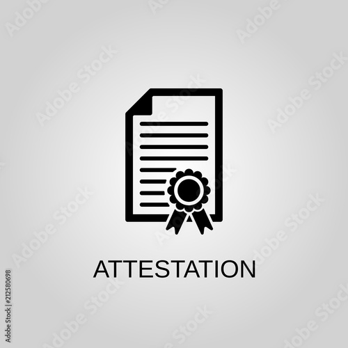 Attestation icon Wallpaper Mural