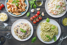 Pasta With Different Kinds Of ...