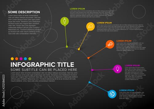 Staande foto Hoogte schaal Vector multipurpose Infographic template