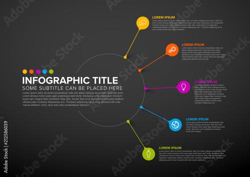 Foto op Aluminium Hoogte schaal Vector multipurpose Infographic template