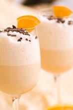 Orange Cocktail With Cream