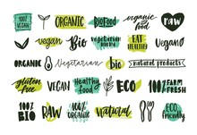 Collection Of Organic Labels W...