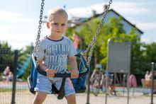 Happy Little Boy On Children P...