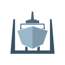 Ship In Dry Dock Icon