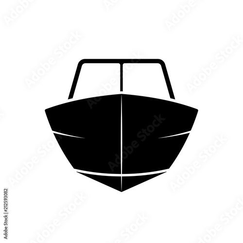 Motor boat front view icon Wall mural