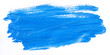 canvas print picture - Blue brush stroke isolated over white background