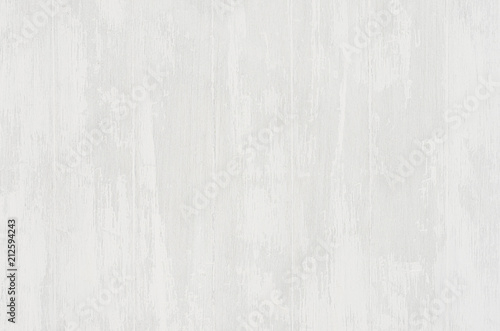 Fototapety, obrazy: Soft light white old shabby wooden background with vertical plank.