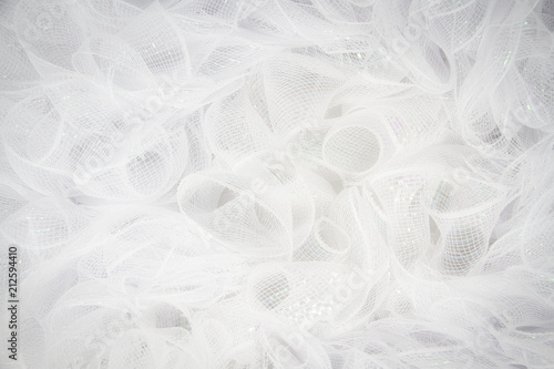 Pure white tulle fabric in an intricate frill that can be used as the background for bridal showers or baby invitations Canvas-taulu