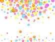 Confetti background. Watercolor confetti design. Party concept. Vector illustration