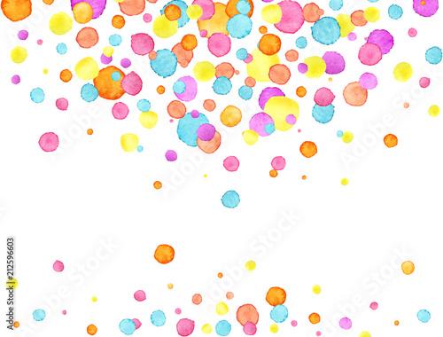Obraz Confetti background. Watercolor confetti design. Party concept. Vector illustration - fototapety do salonu