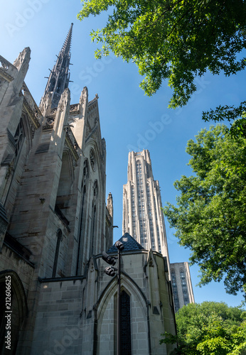 Cathedral of Learning and Heinz Chapel at UPitt Canvas Print