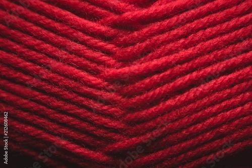 Tangled red yarn